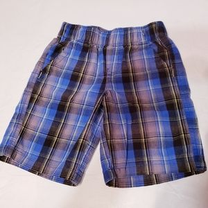 Toddler Boy's Plaid Pull Up Shorts